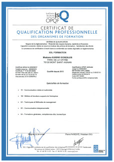 certificat qualification professionnelle OPQF